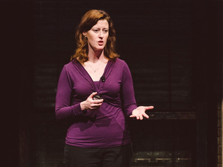 Image: Erin Lavik presenting during TEDxBroadway. Photo by TEDxBroadway, CC BY-NC-ND 2.0.